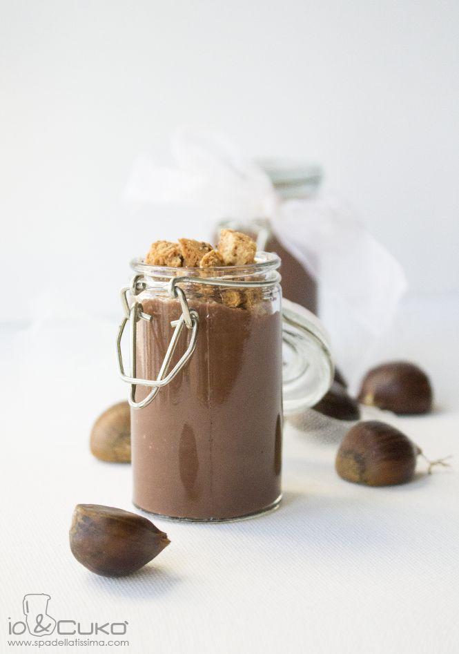 Crema al cioccolato, mandorle e castagne