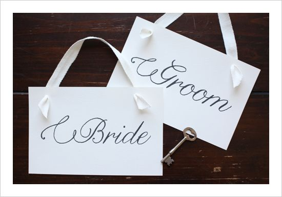 Bride & GroomRomantic Wedding, Wedding Ideas, Brides, Free Wedding, Flourish Scripts, Wedding Signs, Grooms, Chairs Signs, Free Printables