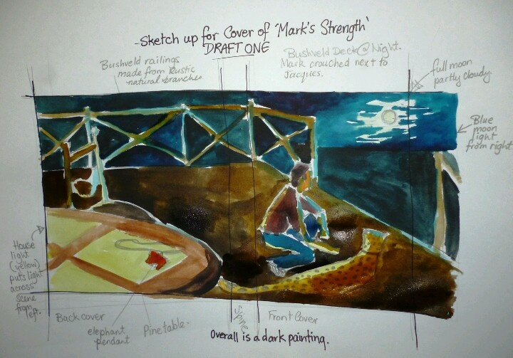 Concept design for book two in The Dare to follow trilogy - Mark's Strength.