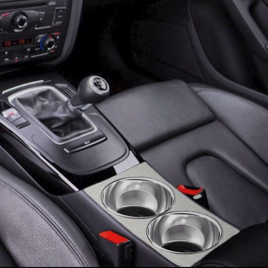 Fresh sleek n' classy maksimatic cup holders shown rendered in a B8 Audi A4. Hands down most sophisticated and innovative beverage holders in the world.