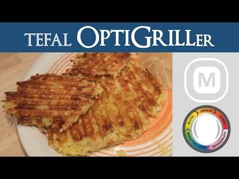 Kartoffelpuffer | Tefal OptiGrill - YouTube