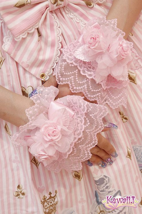 black-bats:    Angelic pretty's Glass Bottle Tears!!You can get the wristcuffs from Angelic Pretty USA's website :3