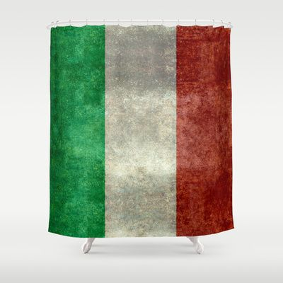 The National Flag of Italy - Vintage Version Shower Curtain by LonestarDesigns2020 - Flags Designs + - $68.00