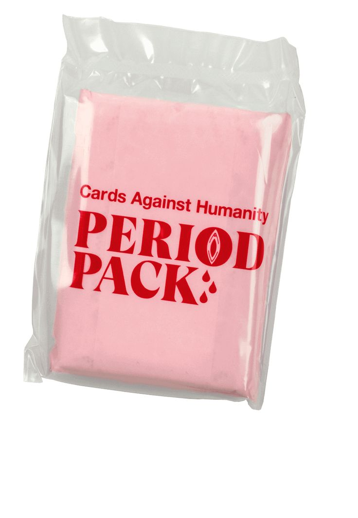 Cards Against Humanity's Period Pack.