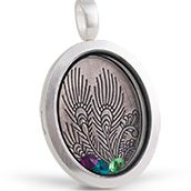 This is February's locket of the month from South Hill Designs. An oval locket, a peacock screen and 3 crystals. This locket is beautiful and is $54.67, a great deal!  www.southhilldesigns.com/kkennedy