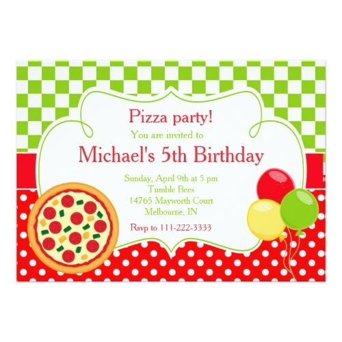 120 best Pizza Birthday Party Invitations images – Pizza Party Invitation Template
