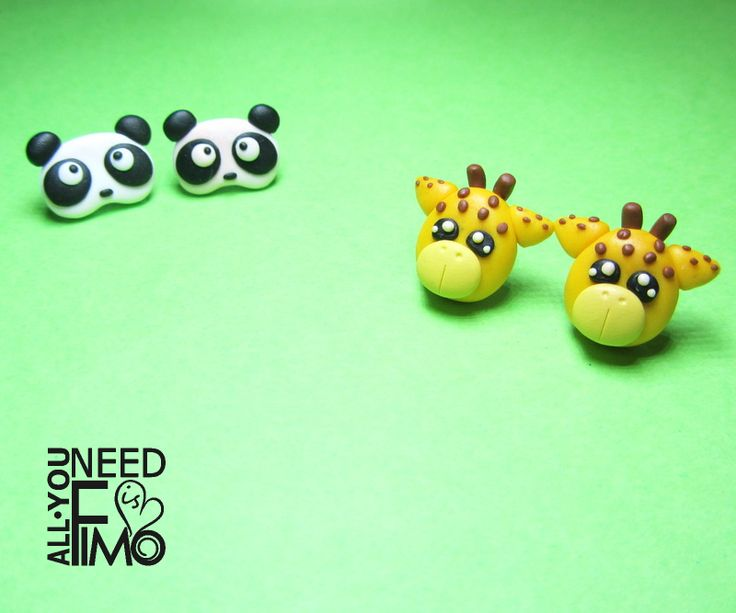 Fimo earrings with pandas and giraffes in my Etsy Shop! INFO: https://www.facebook.com/AllYouNeedIsFimo/photos/a.937250929688782.1073741828.932013750212500/1160975993982940/?type=3&theater\/#fimo #polymerclay #artigianato #fattoamano #handmade #jewelry #gioielli #orecchini #earrings #animals #panda #giraffe #giraffa #zoo #giftidea #christmas #christmasgift #christmasgiftideas #etsy #etsyshop #allyouneedisfimo #etsyfinds #etsysellersofinstagram #epiconetsy #supporthandmade #kawaii #cute