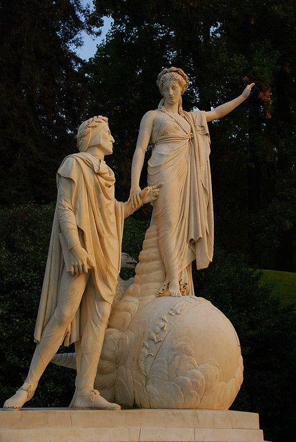 The meeting between Dante and Beatrice - L'incontro tra Dante e Beatrice - Villa Melzi | Bellagio #lakecomoville