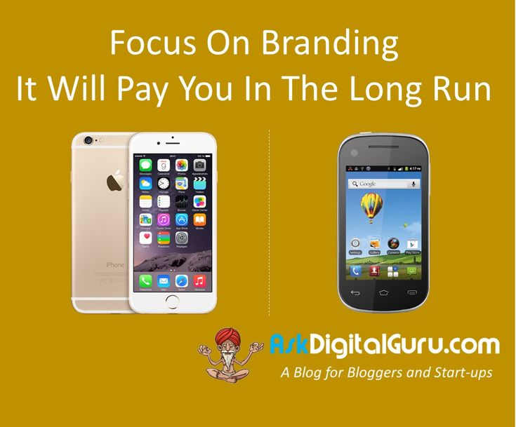 Whenever you are starting your business, always focus on branding. You can start earning premium from day 1, provided you can establish it as a brand