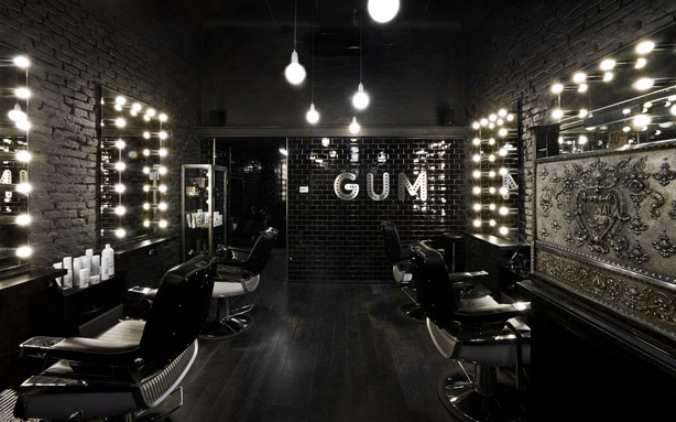 Barbershop Design Ideas barber shop interior design ideas Use Only The Horizontal Lighting Along The Mirrors Uptop Spread Hanging Lights Even Further From Each Other Above Common Area And Over Stations