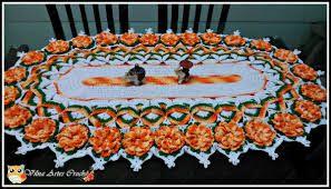Resultado de imagem para caminhos de mesas em croche