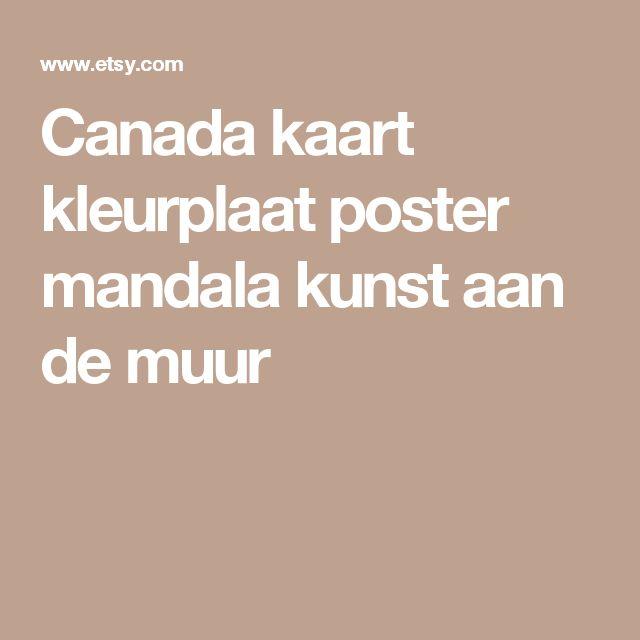 Canada kaart kleurplaat poster mandala kunst aan de muur