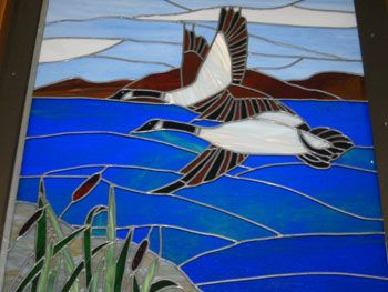 goose stained glass - Google Search