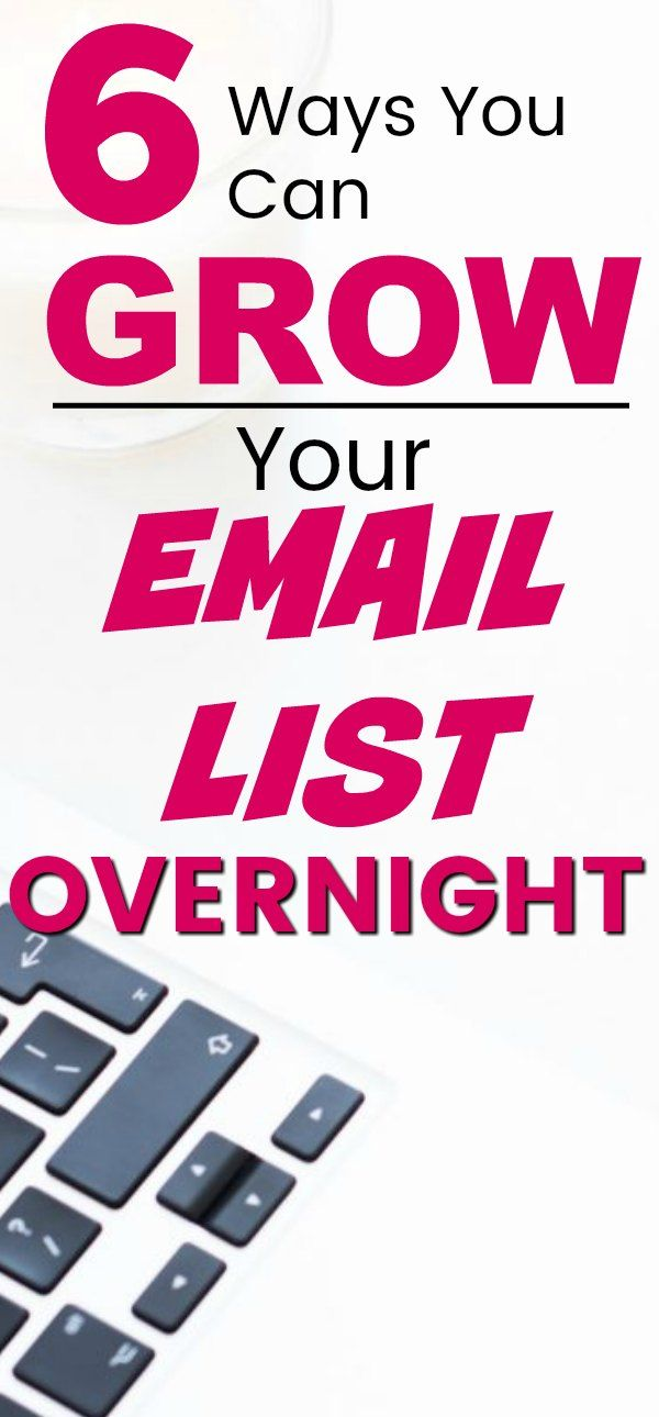 How I grew my email list overnight – Eclectic Twist