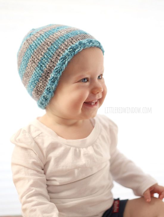 The Do-Gooder Hat free knitting pattern for donations! A great simple and quick pattern to make hats to donate to your favorite charity! Includes Free PDF! (sponsored)   littleredwindow.com