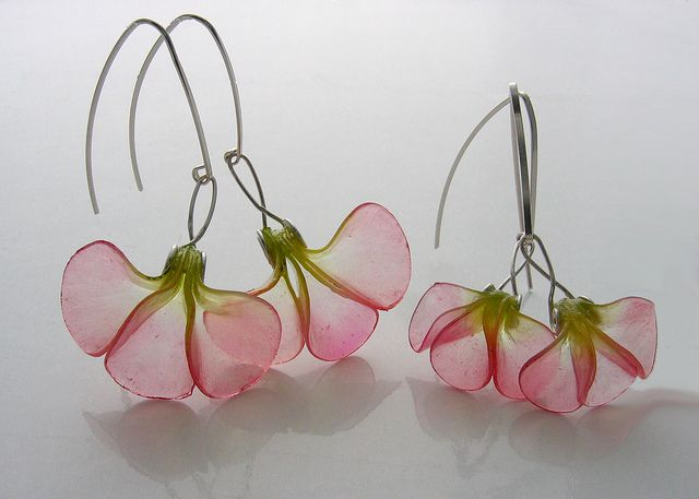They are made of polymer clay. Beautiful!