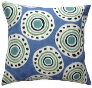 Contemporary Throw Pillows – Formalism Circle, blue