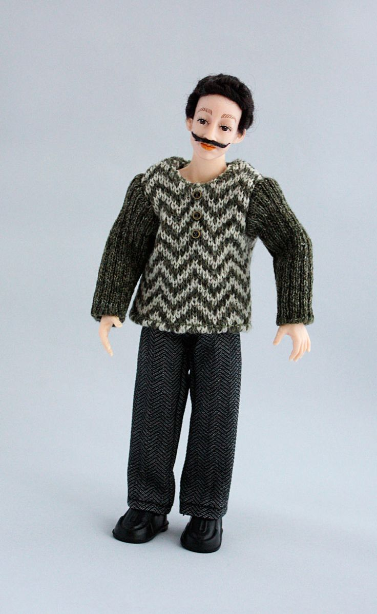 "Wearable dollhouse jumper and trousers for 1/12 Heidi Ott 6"" male doll. Free shipping!"