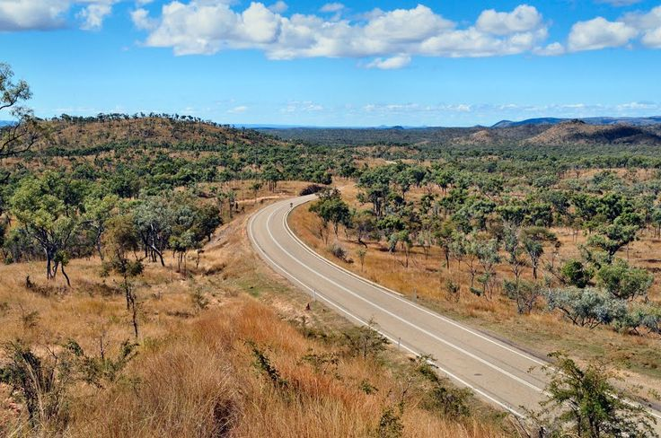 Savannah Way winding towards Mt Surprise, Georgetown, Queensland, Australia