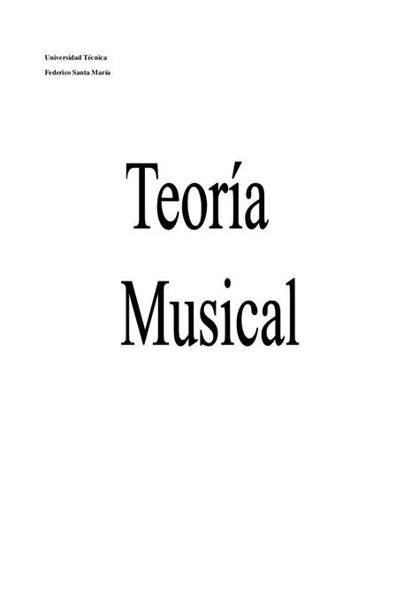 Teoria Musical (Solfeo)