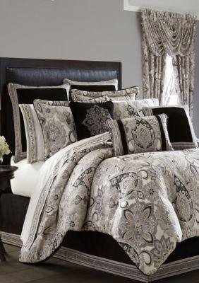 J Queen New York Silver Guiliana Queen Comforter Set