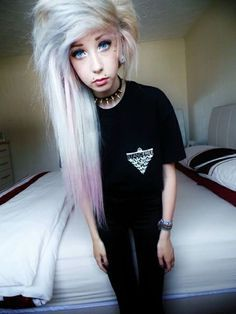 Image result for scene girl haircut