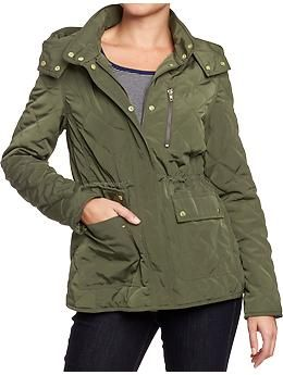 Women's Quilted Jackets | Old Navy This jacket looks so much better in person, it's got a sheen and it can be cinched around the waist.