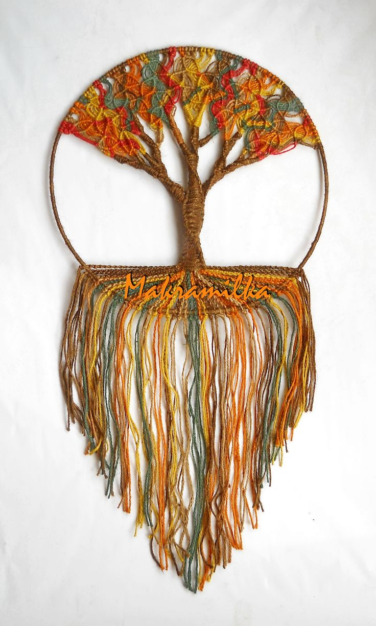Autumn macrame tree