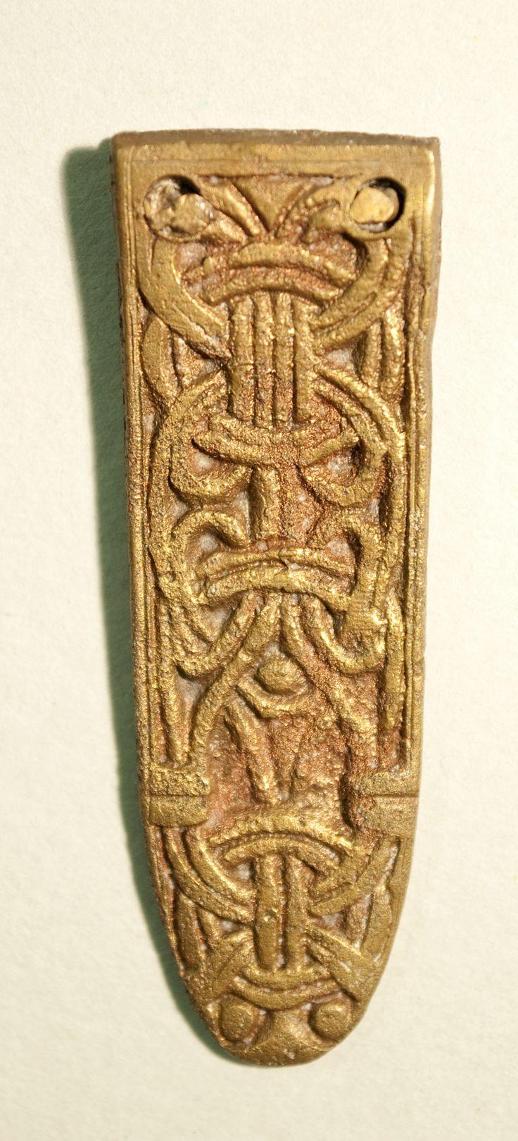 Anglo-skandinavisk rembeslag i Borrestil. Fra York Museums Trust (Yorkshire Museum).