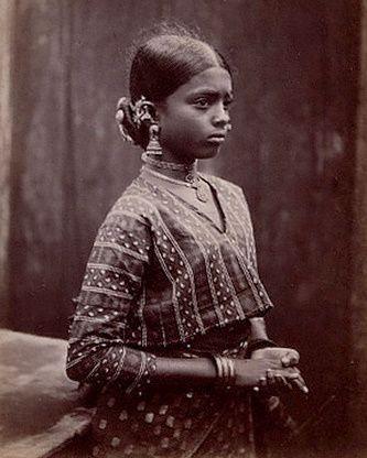 Tamil girl 1912. India