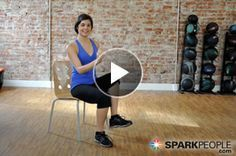 Turn Your Chair into a Fat-Torching Machine with this SEATED cardio workout. Surprisingly challenging! | via @SparkPeople @Coach Nicole
