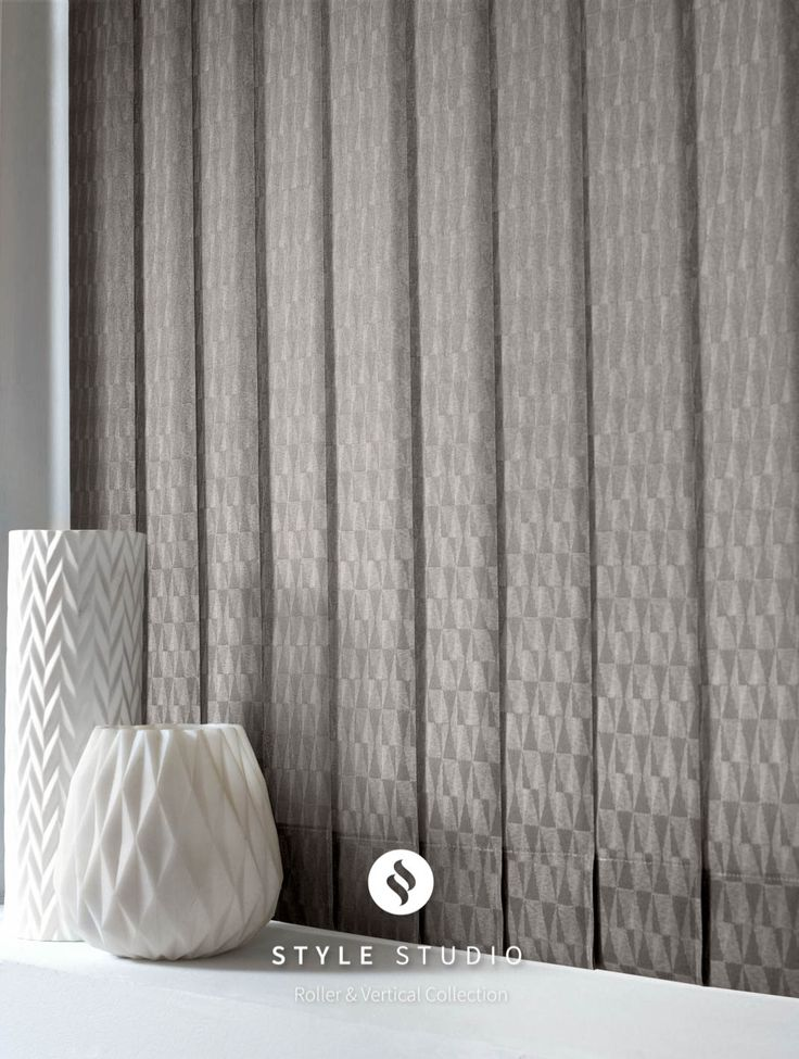 Vertical Blind by Eclipse - Vector Concrete Fabric