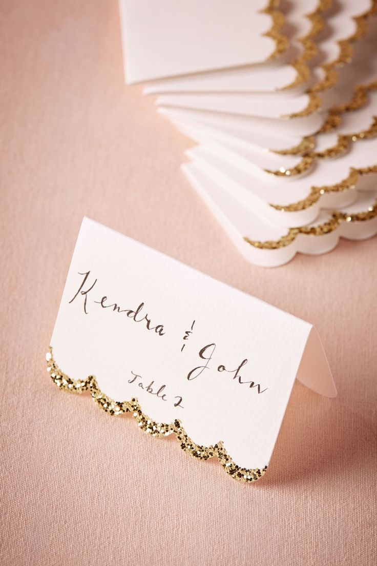 Glitter-Dipped Place Cards (10) from @BHLDN