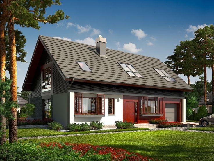 DOM.PL™ - Projekt domu AC Benjamin G1 ENERGO CE - DOM AF6-39 - gotowy projekt domu
