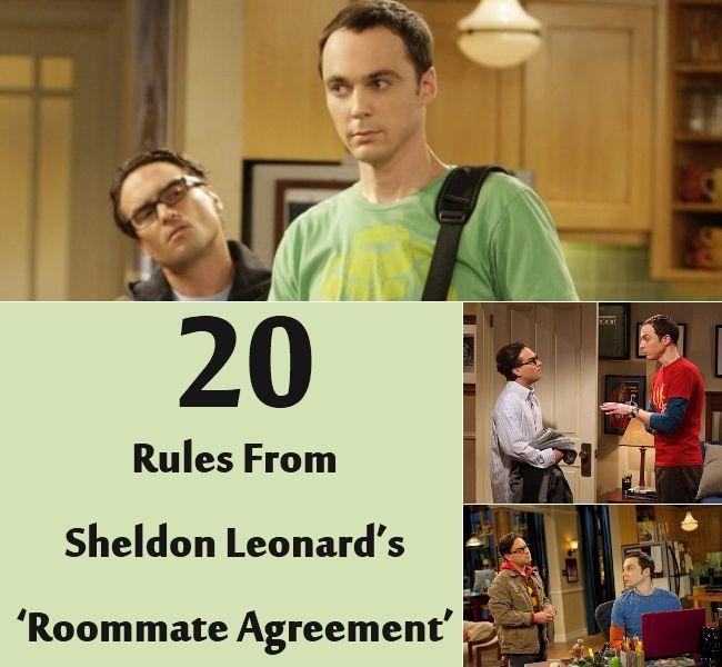 20 Rules From Sheldon Leonard's 'Roommate Agreement'