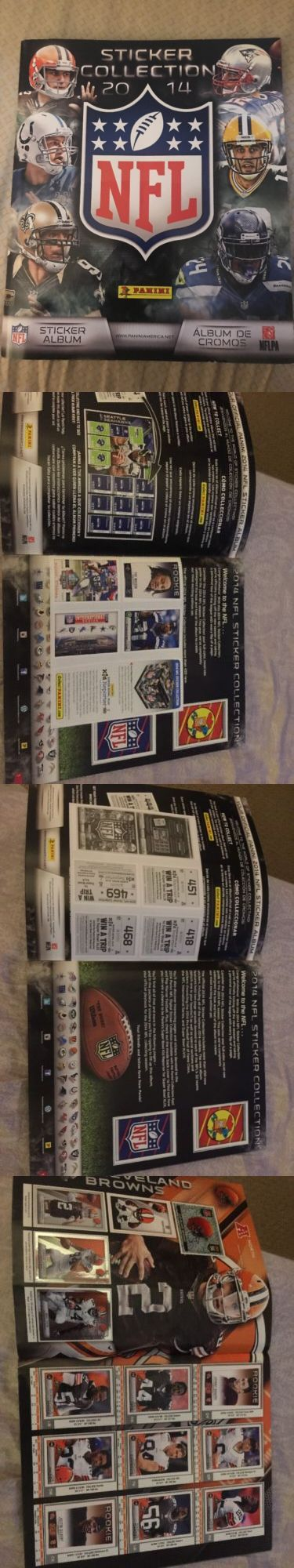 Sports Stickers Sets and Albums 141755: Panini Album Nfl 2014 Complete 485 Card Album - With Insert Cards Still In Album -> BUY IT NOW ONLY: $50 on eBay!