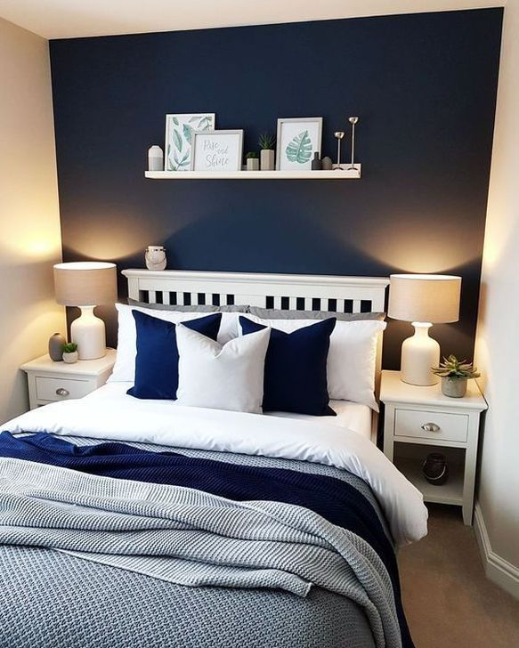 45 Astonishing Bedroom Interior Design Ideas For More Enchanting And Comfort In 2020 Master Bedroom Color Schemes Blue Bedroom Design Master Bedroom Colors