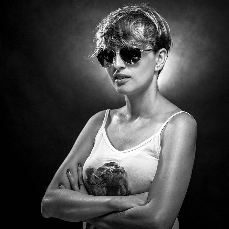 Nice portrait on black background. Photography: Dawid Urbaniak