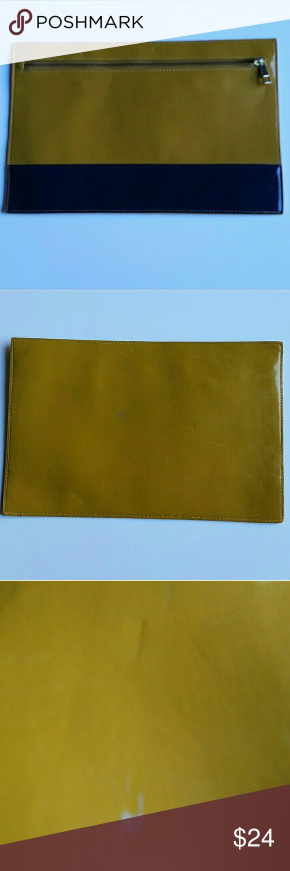 Asos Yellow and Royal blue  Clutch Bag . Cute and right on trend yellow and royal blue  clutch, perfect for any occasion. ASOS Bags Clutches & Wristlets