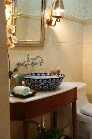 40 stunning powder room ideas to decorate your dream bathroom rh pinterest com