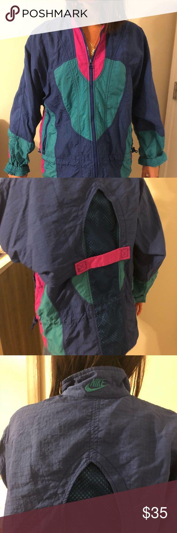 Vintage Nike Jacket Vintage Nike Jacket Teal, Blue, Magenta. Lightweight with detailed back Nike Jackets & Coats