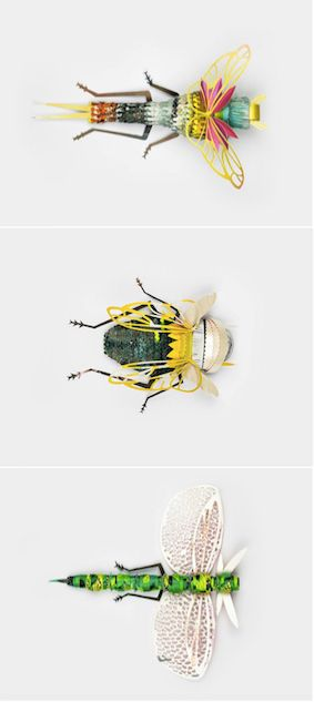 Beautifully handcrafted insects made out of recycled paper.