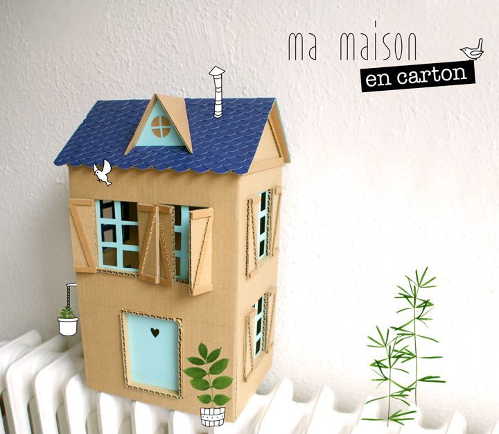 les 25 meilleures id es de la cat gorie maisons en carton sur pinterest maison pour enfants en. Black Bedroom Furniture Sets. Home Design Ideas