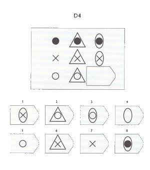 Ravens Progressive Matrices test item D4