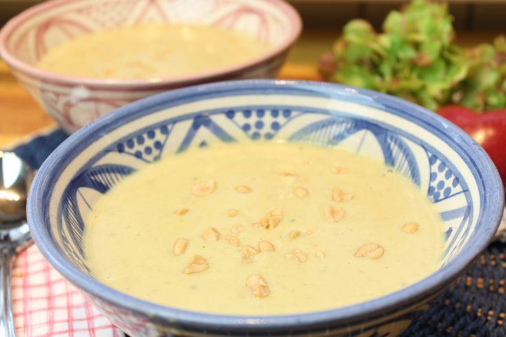 Low Carb Rezepte von Happy Carb: Erdnuss-Kartoffelsuppe.