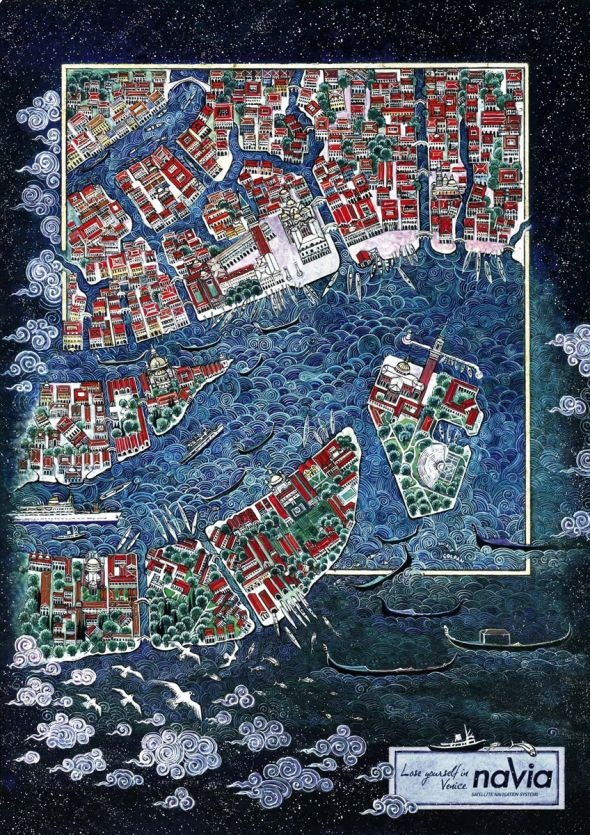 Nusret Colpan - Map of Venice for Navia
