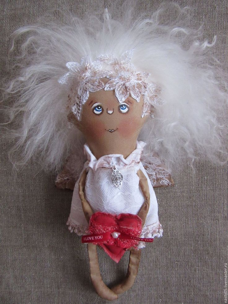 Купить Крылатыш Валентинка - белый, ангел, кофейная игрушка, ароматизированная игрушка, валентинка, интерьерная кукла