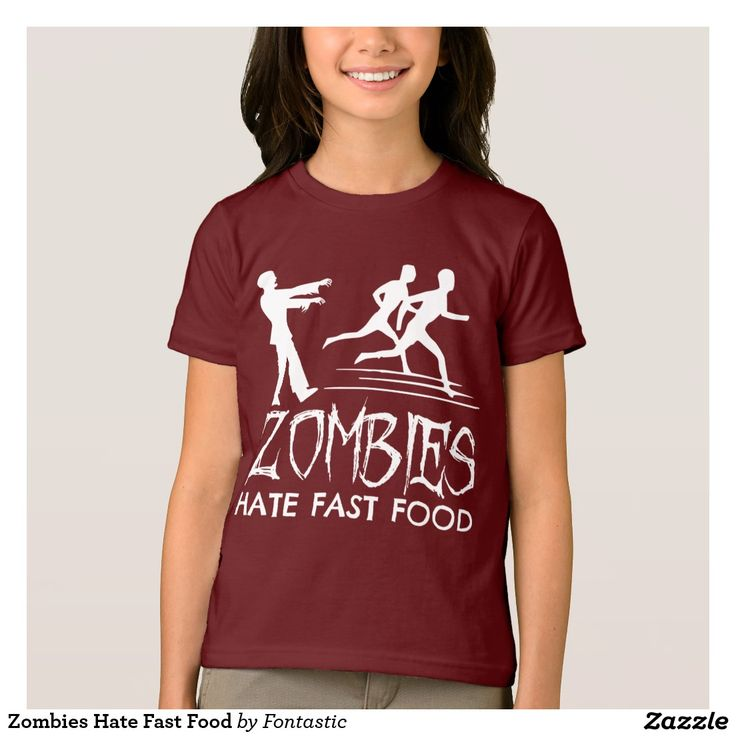 Zombies Hate Fast Food T-Shirt #Halloween