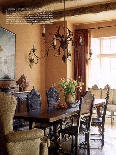 Beautiful hacienda dining room from eleanor cummings for Western dining room tables