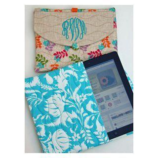 "In The Hoop :: Device Cases - Phones, eReaders, Etc. :: iPad Case - Embroidery Garden   Unique ""in the hoop"" machine embroidery design files"